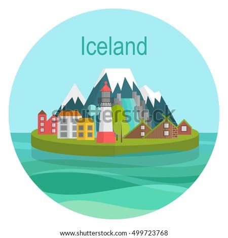 vector illustration island