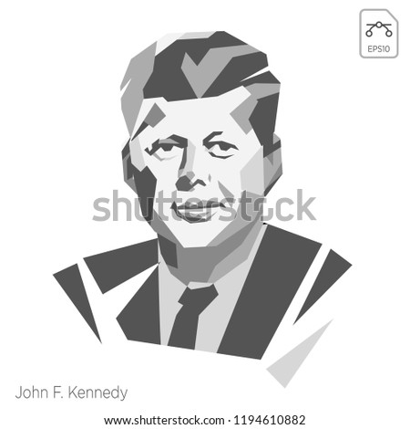vector illustration john f