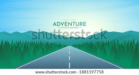 vector illustration journey
