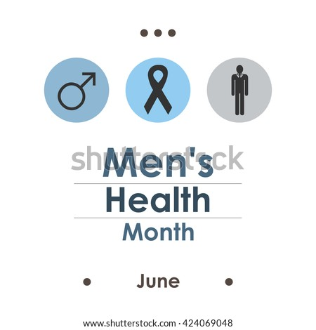 vector illustration / june men health awareness month