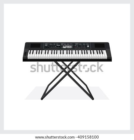 Vector Illustration Keyboard instrument