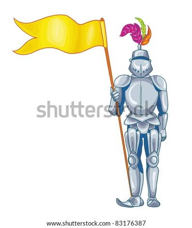 vector illustration knight in