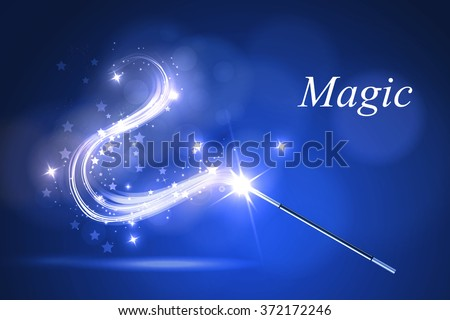 Vector illustration kolorful magic wand.