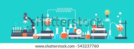 vector illustration laboratory