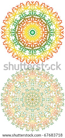 vector illustration. Lacy patterns of rainbow colors