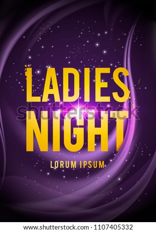 Vector illustration Ladies Night Party design for poster, flyer or banner