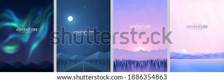 vector illustration landscapes