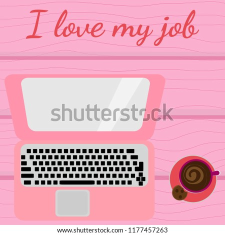 vector illustration laptop and