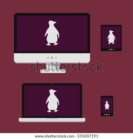 vector illustration laptop
