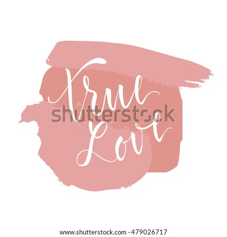 vector illustration lettering