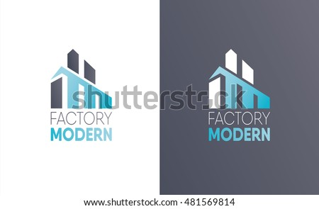 Vector Illustration Logo Construction Firm Example Of A For The Manufacture Factory Or
