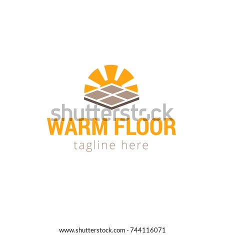 Vector illustration Logo for warm floor and house, home