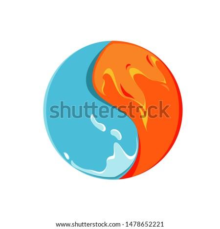 vector illustration logo water