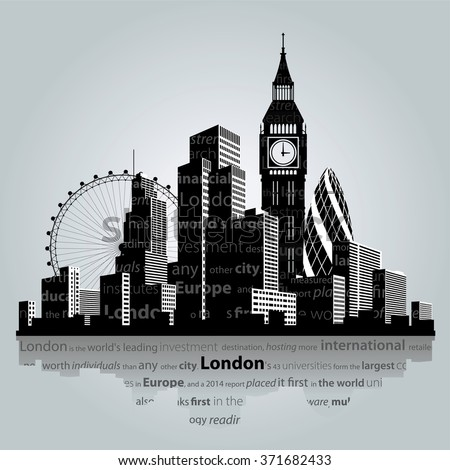 vector illustration london