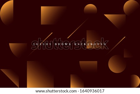 vector illustration. Luxury brown background. Design elements minimalistic geometry brown like chocolate. modern background and frame for text stylish luxurious brown