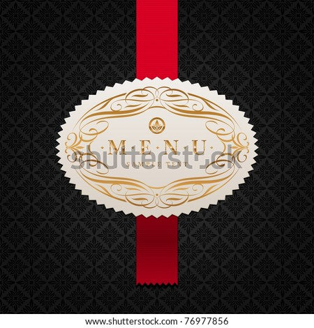 Vector illustration - Luxury golden vintage calligraphic framed labels - stock vector