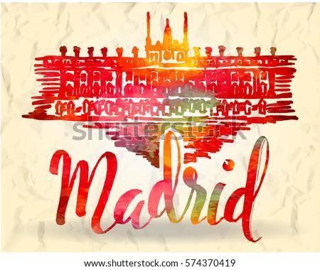vector illustration  madrid