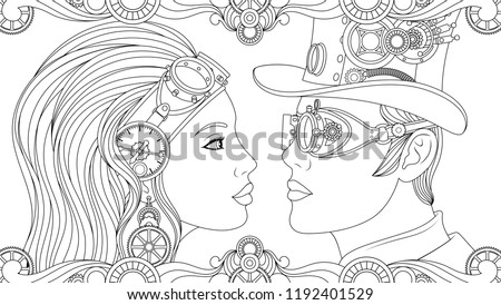 vector illustration  man and
