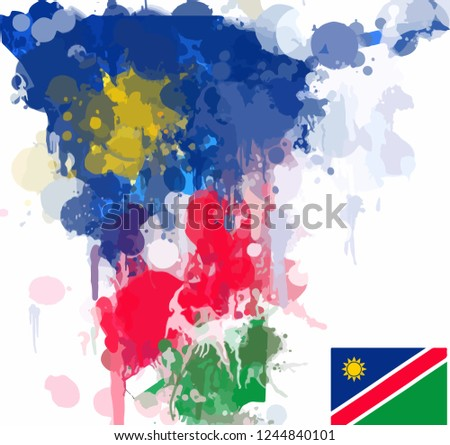 Grunge Flag of Namibia Vector - Download Free Vector Art