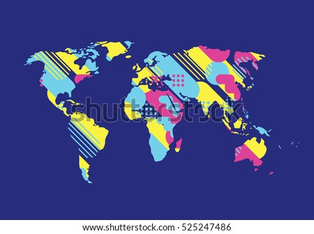 vector illustration map of the