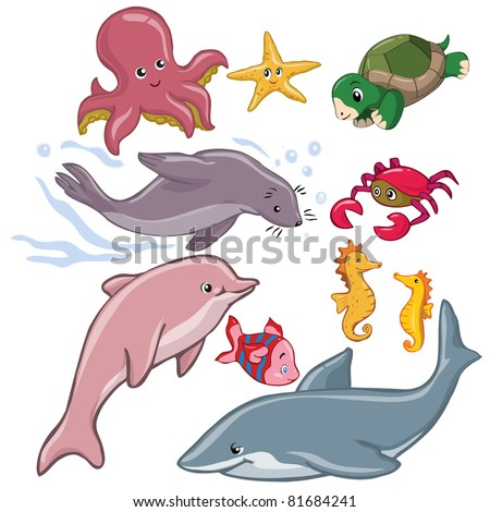 vector illustration  marine