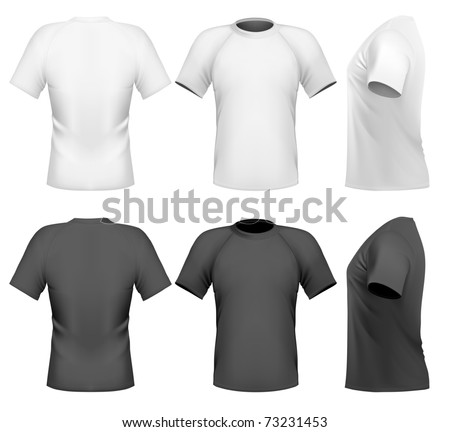 Vector illustration Men's t-shirt design template