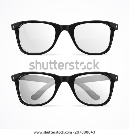 Vector Illustration metal framed geek glasses isolated on a white background.