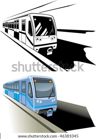 vector illustration metro fast