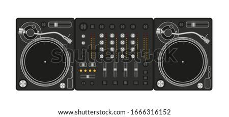 vector illustration mixer