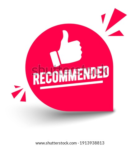 Vector Illustration Modern Button With Text Recommended Foto stock ©