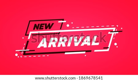 Vector Illustration Modern Label With Text New Arrival Сток-фото ©