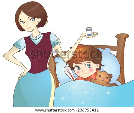 vector illustration mother with