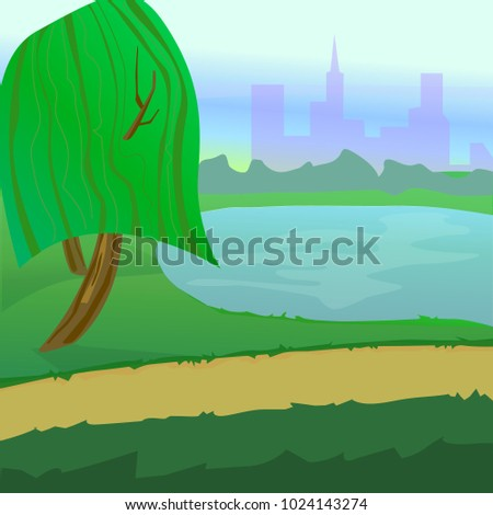 vector illustration  natural