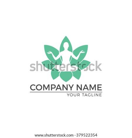 Vector Illustration : Nature Logo Design. Yoga pose