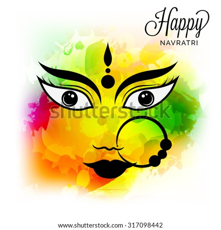 vector illustration navratri or