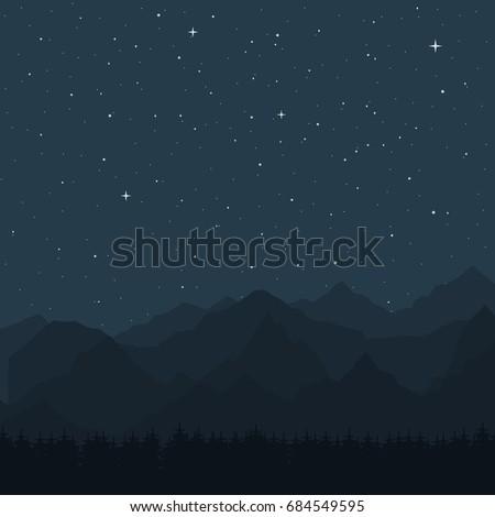 vector illustration night