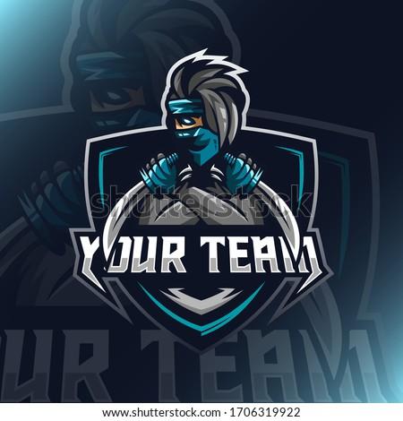 vector illustration ninja logo