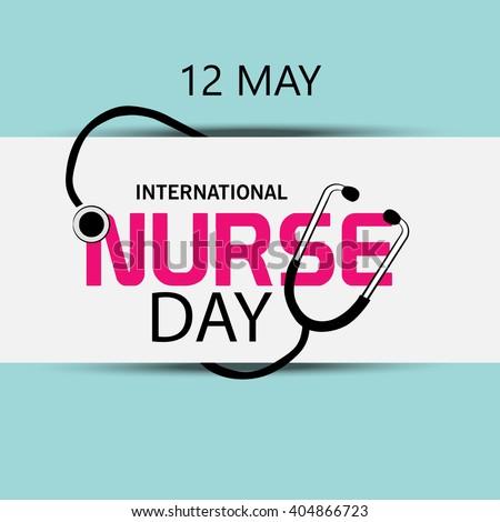 Vector illustration of a background for International Nurse Day.