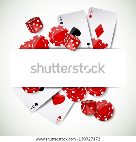 Vector Illustration of a Background with Casino Elements