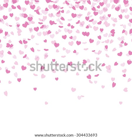 Vector Illustration of a Background with Heart Confetti