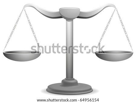 vector illustration of  a balance