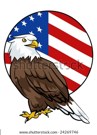 american flag background with eagle. american flag background with
