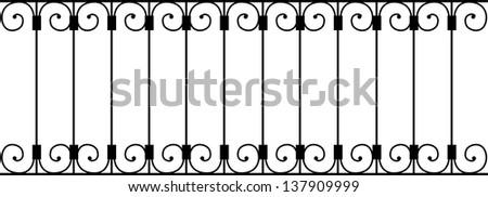 Vector illustration of a balustrade