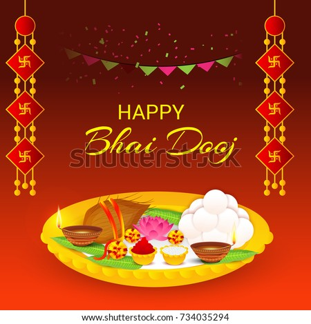 Vector illustration of a banner for indian festival happy bhai dooj vector illustration of a banner for indian festival happy bhai dooj m4hsunfo