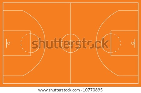 basketball court clipart. of a asketball court and