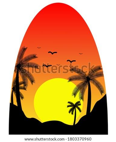 vector illustration of a beach