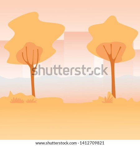 Vector illustration of a beautiful city park. background park. park - Vector