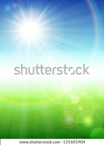 Vector illustration of a beautiful summer background