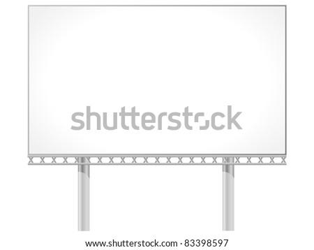 Vector illustration of a billboard