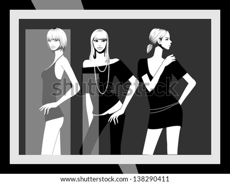 vector illustration of a black